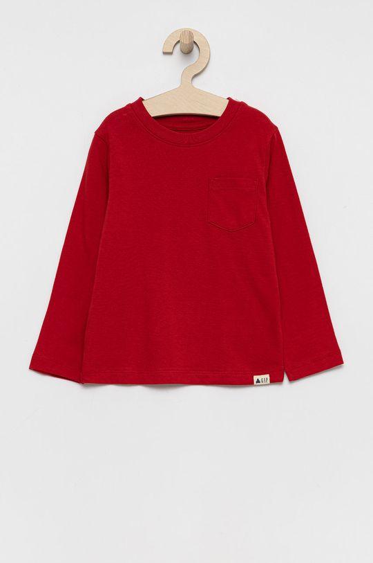 czerwony GAP - Longsleeve bawełniany dziecięcy Chłopięcy