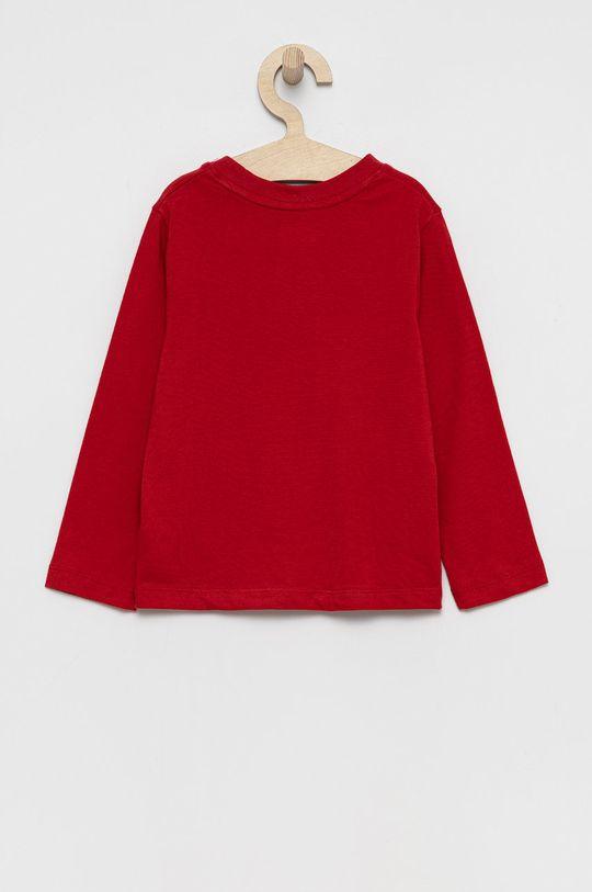 GAP - Longsleeve bawełniany dziecięcy czerwony
