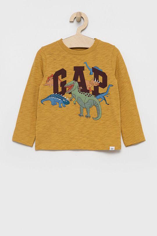 żółty GAP - Longsleeve bawełniany dziecięcy Chłopięcy