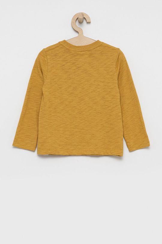 GAP - Longsleeve bawełniany dziecięcy żółty