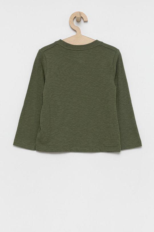 GAP - Longsleeve bawełniany dziecięcy brudny zielony