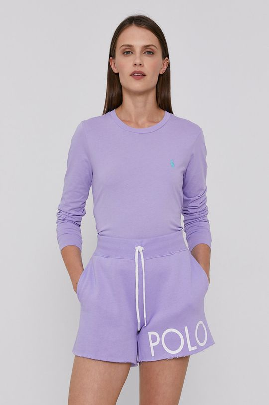 levandulová Polo Ralph Lauren - Tričko s dlouhým rukávem Dámský