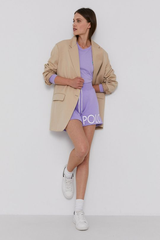 Polo Ralph Lauren - Tričko s dlouhým rukávem levandulová