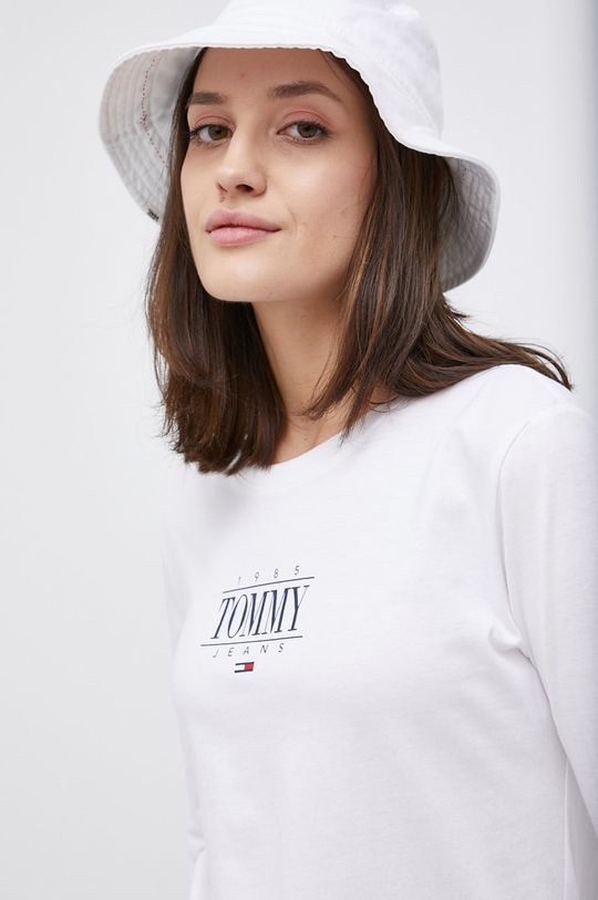 biały Tommy Jeans - Longsleeve bawełniany Damski