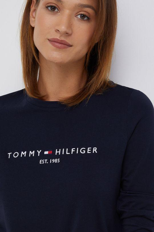granatowy Tommy Hilfiger - Longsleeve bawełniany