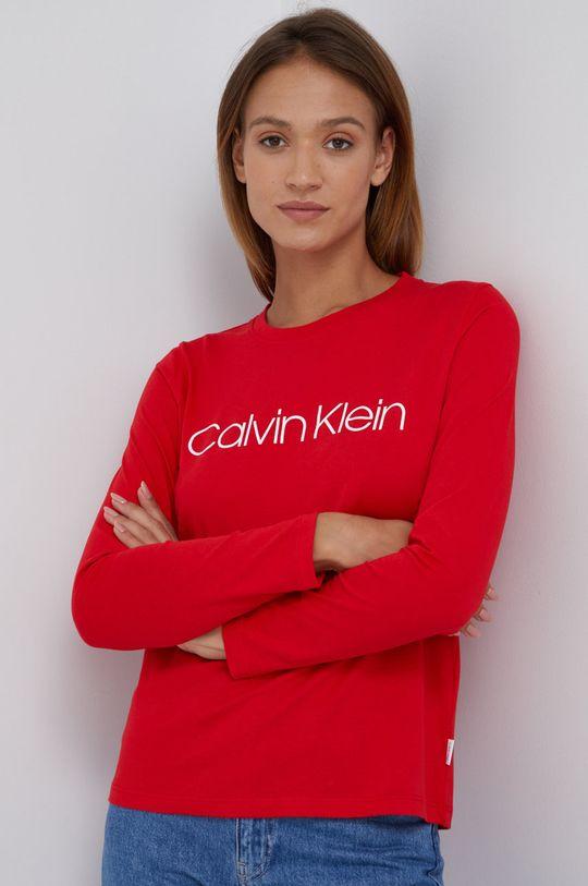 czerwony Calvin Klein - Longsleeve bawełniany