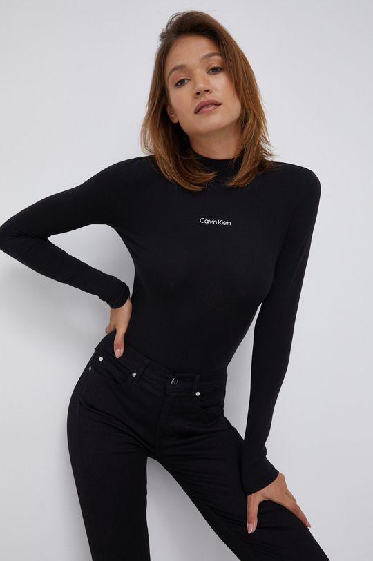 czarny Calvin Klein - Longsleeve Damski