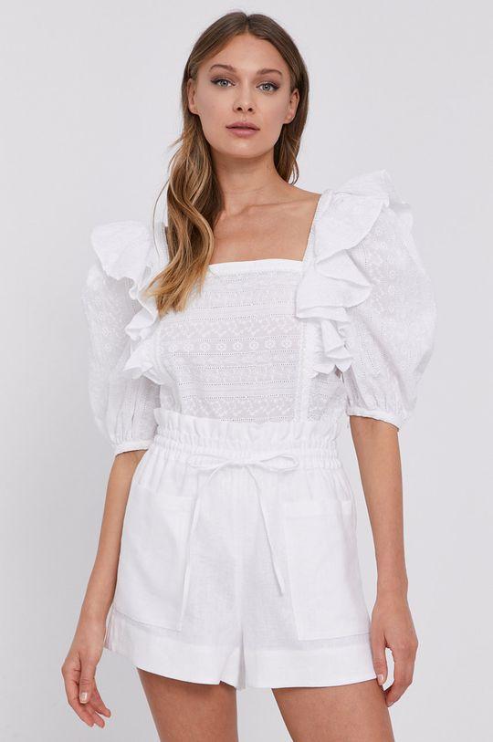 biały Miss Sixty - Bluzka bawełniana Damski