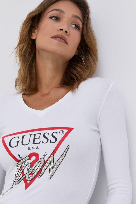 alb Guess - Longsleeve De femei