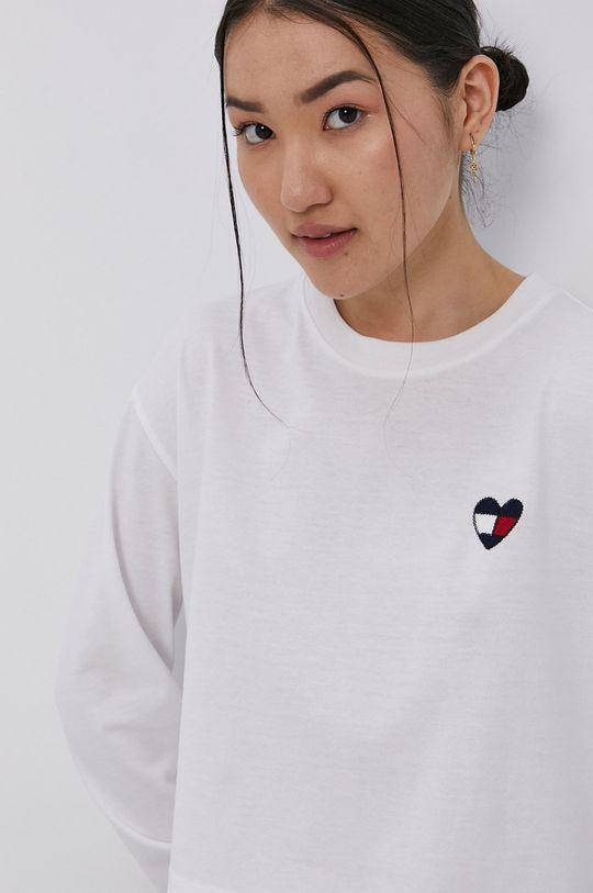 bílá Tommy Jeans - Tričko s dlouhým rukávem Dámský