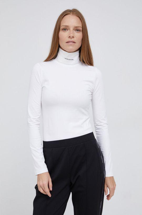 biały Calvin Klein Jeans - Longsleeve Damski