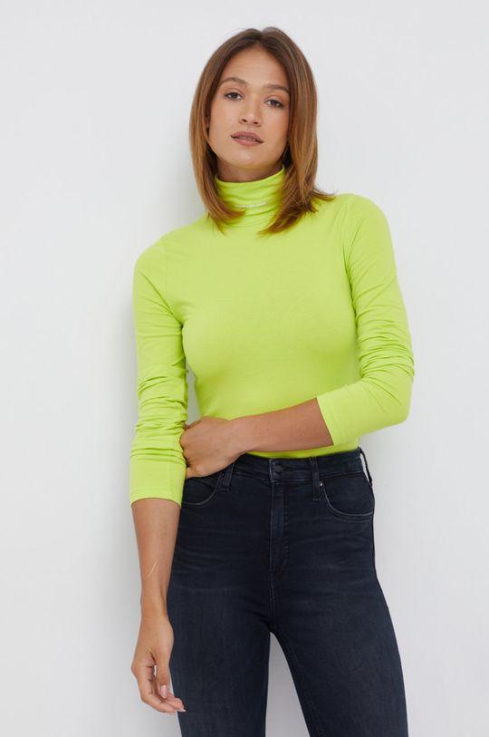 żółto - zielony Calvin Klein Jeans - Longsleeve Damski