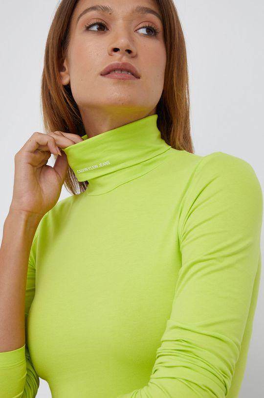 żółto - zielony Calvin Klein Jeans - Longsleeve
