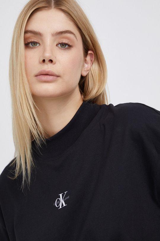 czarny Calvin Klein Jeans - Longsleeve bawełniany