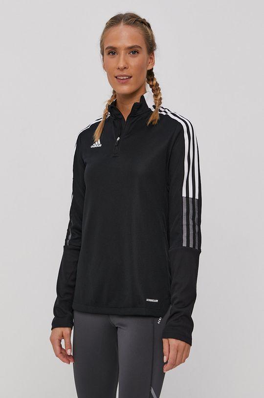 černá adidas Performance - Tričko s dlouhým rukávem Dámský