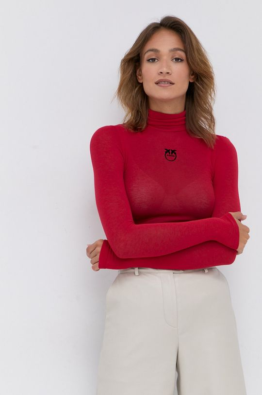 červená Pinko - Tričko s dlhým rukávom Dámsky
