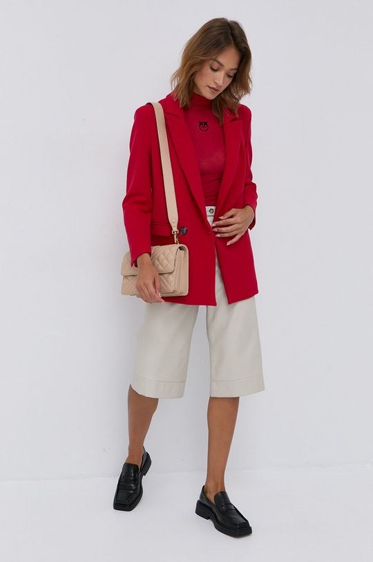 Pinko - Tričko s dlhým rukávom červená