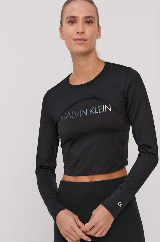 černá Calvin Klein Performance - Tričko s dlouhým rukávem Dámský