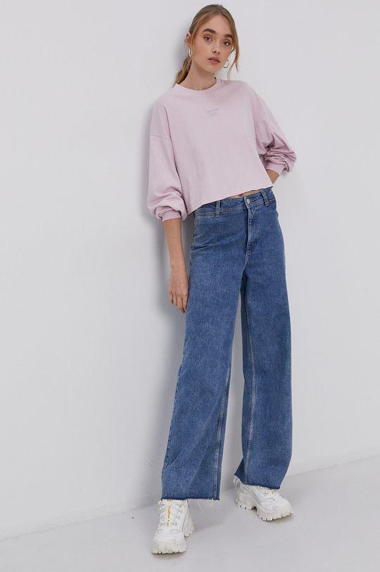 Reebok Classic - Tričko s dlouhým rukávem pastelově růžová