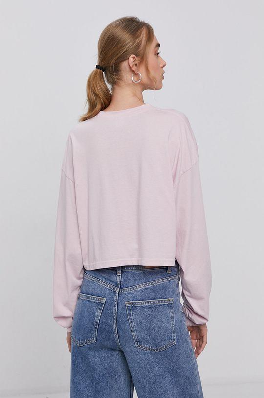 pastelově růžová Reebok Classic - Tričko s dlouhým rukávem