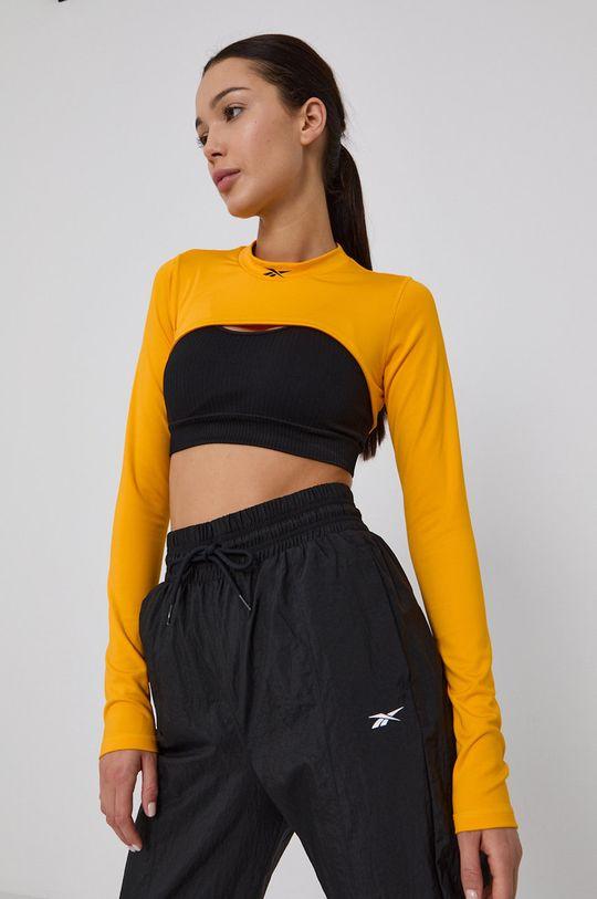 žlutá Reebok - Tričko s dlouhým rukávem Dámský