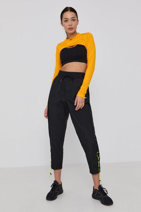 Reebok - Tričko s dlouhým rukávem žlutá