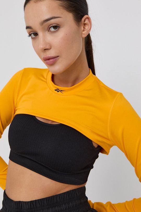 žlutá Reebok - Tričko s dlouhým rukávem