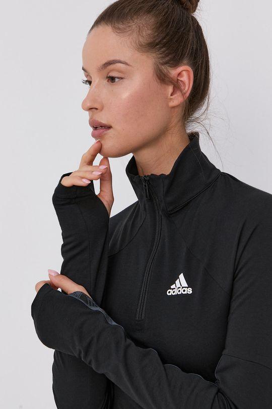černá adidas - Tričko s dlouhým rukávem