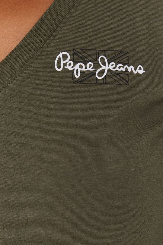 Pepe Jeans - Longsleeve bawełniany Bleu Damski