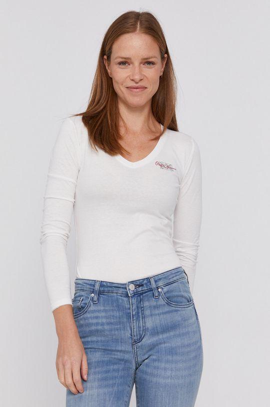 biały Pepe Jeans - Longsleeve bawełniany Bleu