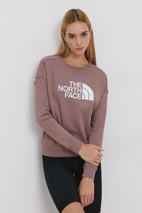 brudny róż The North Face - Bluza bawełniana Damski