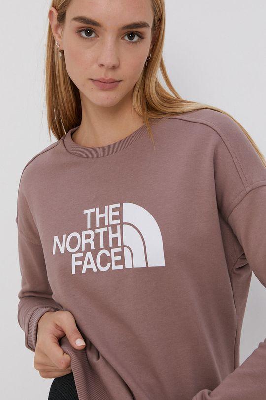 brudny róż The North Face - Bluza bawełniana
