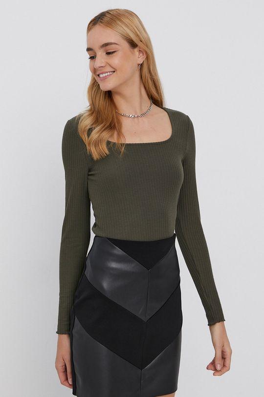 zelená Only - Tričko s dlhým rukávom Dámsky