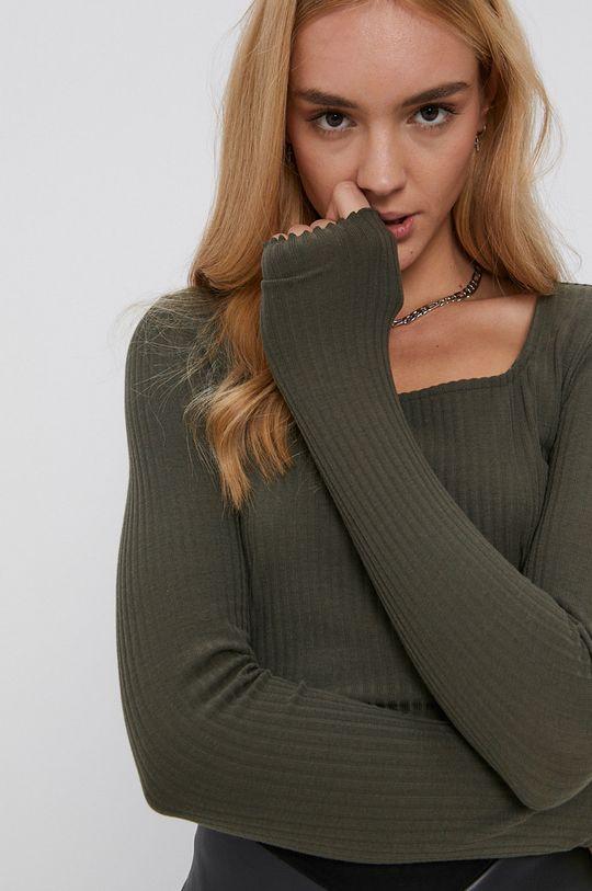 zelená Only - Tričko s dlhým rukávom