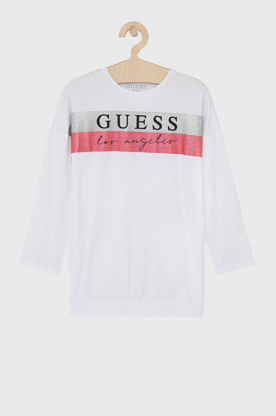 bílá Guess - Dětské tričko s dlouhým rukávem Dívčí