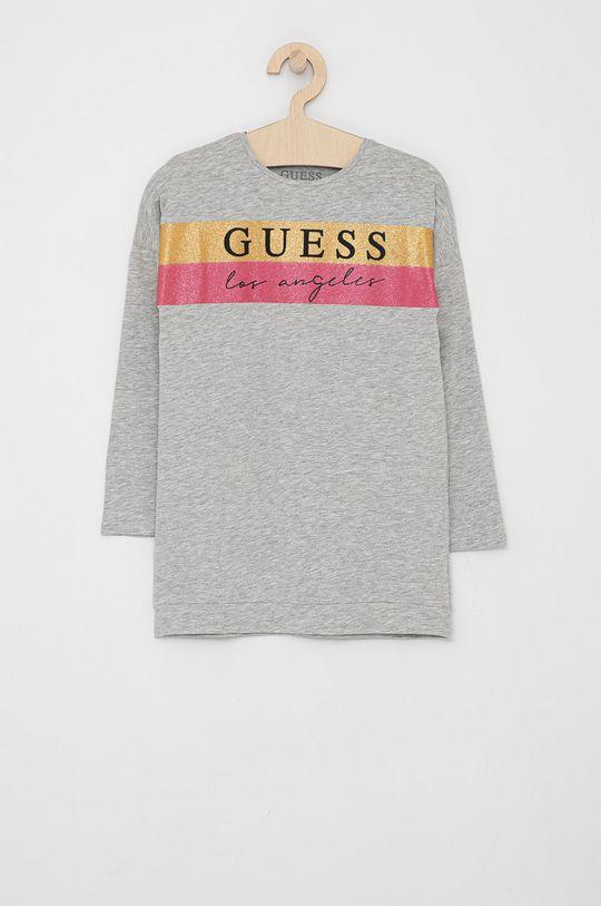 šedá Guess - Dětské tričko s dlouhým rukávem Dívčí