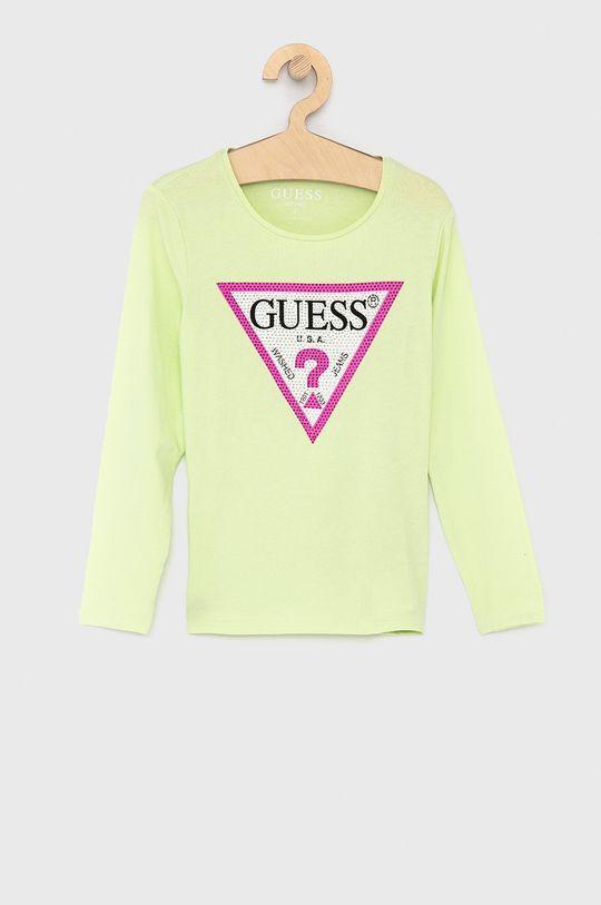 jasně žlutá Guess - Dětské tričko s dlouhým rukávem 116-175 cm Dívčí