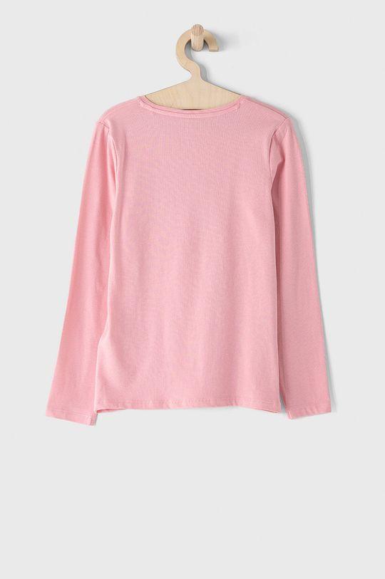 Guess - Longsleeve dziecięcy 116-175 cm różowy