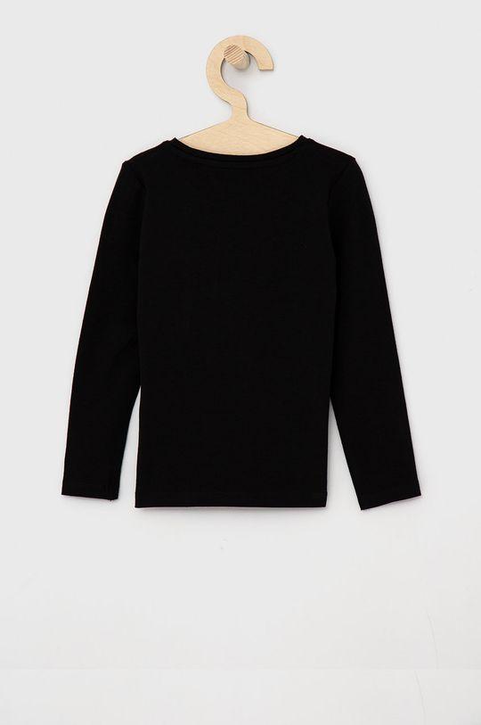 Guess - Dětské tričko s dlouhým rukávem černá