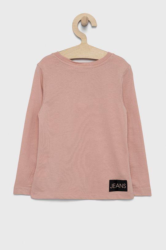 Calvin Klein Jeans - Longsleeve dziecięcy różowy