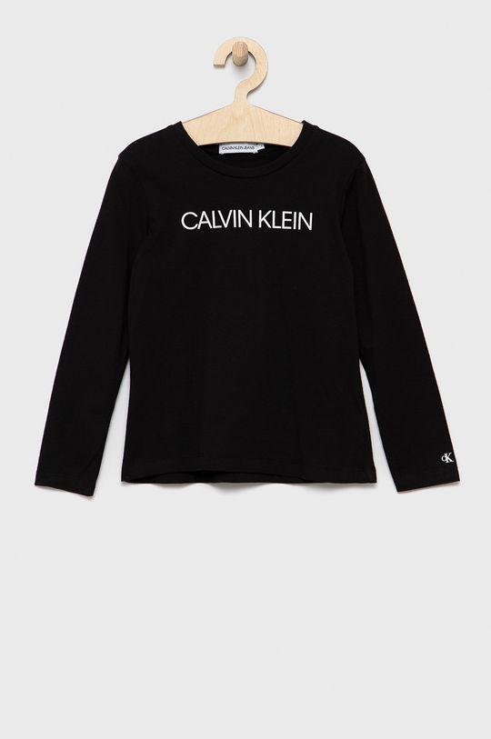 czarny Calvin Klein Jeans - Longsleeve dziecięcy Dziewczęcy