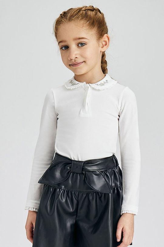biały Mayoral - Longsleeve dziecięcy Dziewczęcy