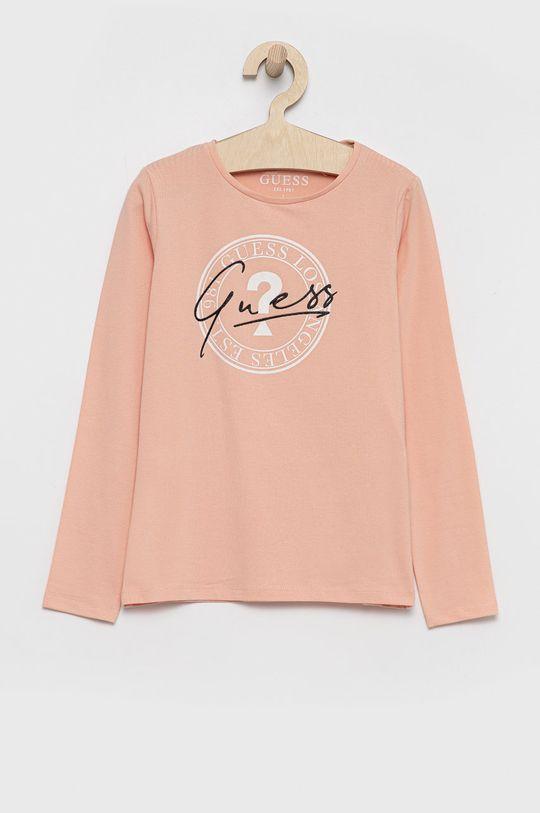 różowy Guess - Longsleeve dziecięcy Dziewczęcy
