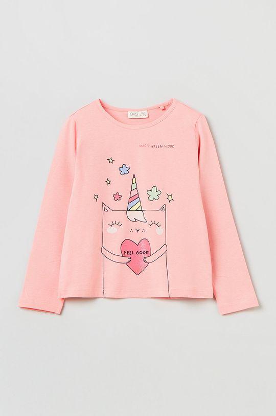 różowy OVS - Longsleeve dziecięcy Dziewczęcy