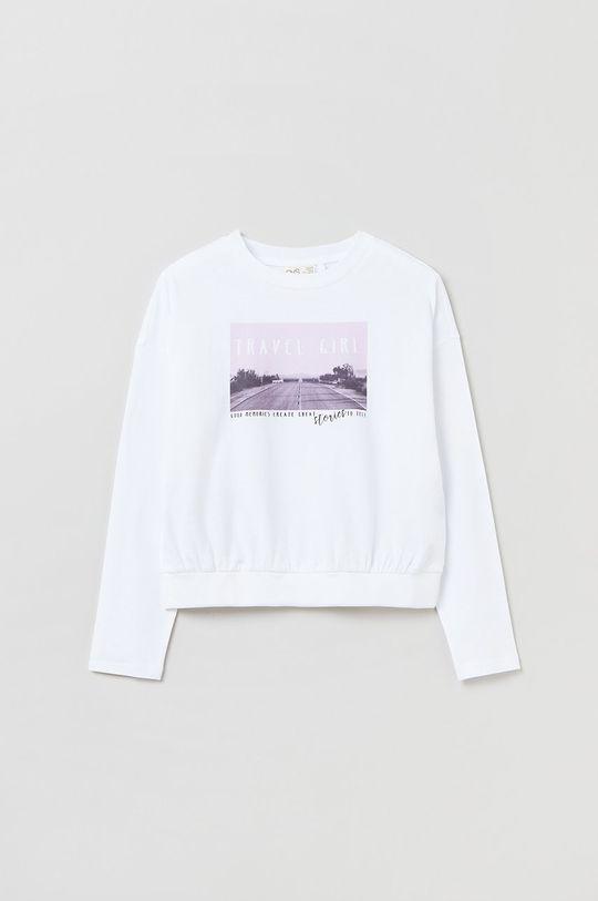 biały OVS - Longsleeve bawełniany dziecięcy Dziewczęcy