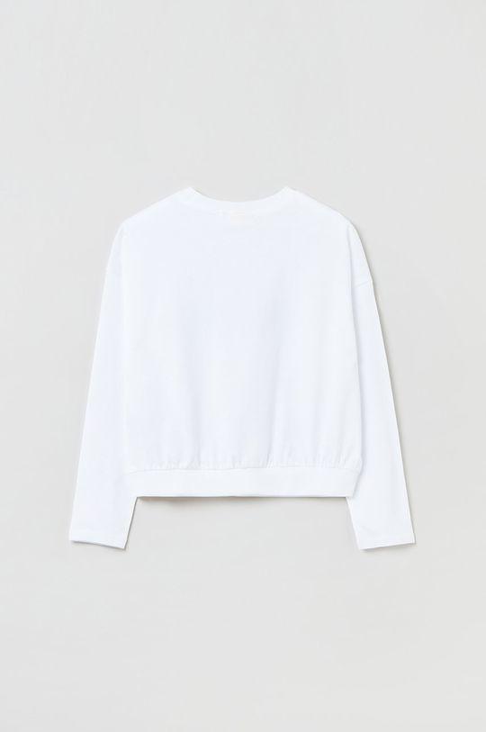 OVS - Longsleeve bawełniany dziecięcy biały