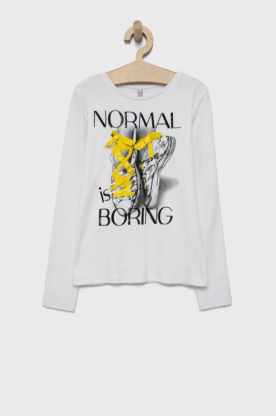 biela Birba&Trybeyond - Detské tričko s dlhým rukávom Dievčenský