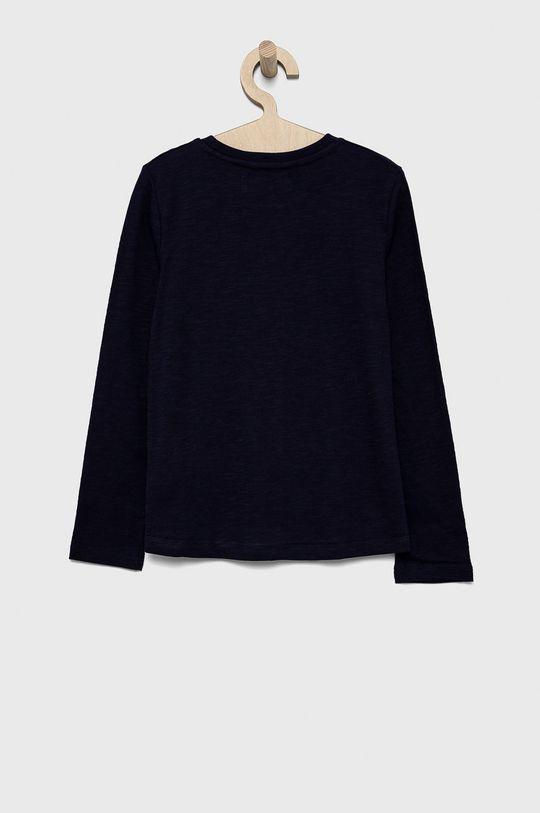 Desigual - Detská bavlnená košeľa s dlhým rukávom tmavofialový