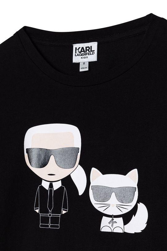 Karl Lagerfeld - Longsleeve copii  47% Bumbac, 7% Elastan, 46% Modal