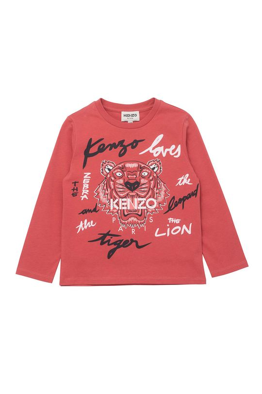 sýto ružová KENZO KIDS - Detské tričko s dlhým rukávom Dievčenský